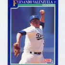 1991 Score Baseball #449 Fernando Valenzuela - Los Angeles Dodgers NM-M