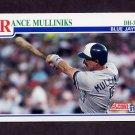 1991 Score Baseball #433 Rance Mulliniks - Toronto Blue Jays