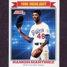 1991 Score Baseball #419 Ramon Martinez HL - Los Angeles Dodgers