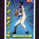 1991 Score Baseball #408 Ramon Martinez KM - Los Angeles Dodgers