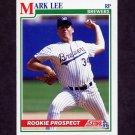 1991 Score Baseball #372 Mark Lee RC - Milwaukee Brewers