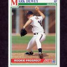 1991 Score Baseball #371 Mark Dewey RC - San Francisco Giants