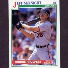 1991 Score Baseball #369 Jeff McKnight - Baltimore Orioles