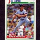 1991 Score Baseball #367 Joe Grahe RC - California Angels