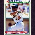 1991 Score Baseball #364 Steve Howard - Oakland A's