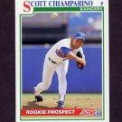 1991 Score Baseball #352B Scott Chiamparino - Texas Rangers