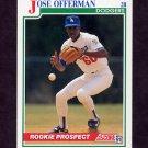 1991 Score Baseball #343 Jose Offerman - Los Angeles Dodgers
