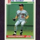 1991 Score Baseball #338 Beau Allred - Cleveland Indians