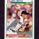 1991 Score Baseball #333 Daryl Irvine RC - Boston Red Sox