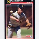 1991 Score Baseball #296 Stan Belinda - Pittsburgh Pirates