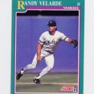 1991 Score Baseball #134 Randy Velarde - New York Yankees