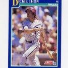 1991 Score Baseball #103 Dickie Thon - Philadelphia Phillies