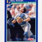 1991 Score Baseball #088 Greg Myers - Toronto Blue Jays