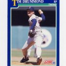 1991 Score Baseball #076 Tim Drummond - Minnesota Twins