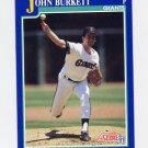 1991 Score Baseball #070 John Burkett - San Francisco Giants