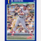 1991 Score Baseball #067 Lee Stevens - California Angels