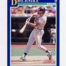 1991 Score Baseball #055 David Justice - Atlanta Braves
