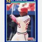1991 Score Baseball #054 Milt Thompson - St. Louis Cardinals