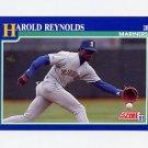 1991 Score Baseball #048 Harold Reynolds - Seattle Mariners