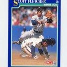 1991 Score Baseball #036 Scott Fletcher - Chicago White Sox