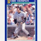 1991 Score Baseball #026 Robby Thompson - San Francisco Giants ExMt