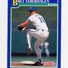 1991 Score Baseball #006 Bret Saberhagen - Kansas City Royals ExMt