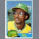 1981 Topps Baseball #364 Mike Davis RC - Oakland A's