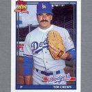 1991 Topps Baseball #737 Tim Crews - Los Angeles Dodgers NM-M