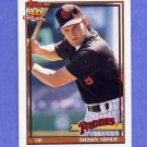 1991 Topps Baseball #697 Shawn Abner - San Diego Padres