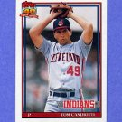 1991 Topps Baseball #624 Tom Candiotti - Cleveland Indians