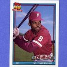 1991 Topps Baseball #618 Sil Campusano - Philadelphia Phillies