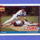 1991 Topps Baseball #614 Luis Salazar - Chicago Cubs