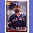 1991 Topps Baseball #605 Jeff Reardon - Boston Red Sox