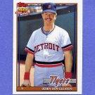 1991 Topps Baseball #597 Jerry Don Gleaton - Detroit Tigers