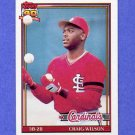 1991 Topps Baseball #566 Craig Wilson RC - St. Louis Cardinals