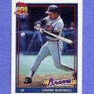 1991 Topps Baseball #533 Oddibe McDowell - Atlanta Braves