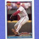 1991 Topps Baseball #524 Darrel Akerfelds - Philadelphia Phillies