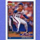 1991 Topps Baseball #510 John Franco - New York Mets NM-M