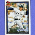 1991 Topps Baseball #484 Dave LaPoint - New York Yankees