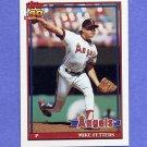 1991 Topps Baseball #477 Mike Fetters - California Angels