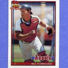 1991 Topps Baseball #452 Bill Schroeder - California Angels NM-M