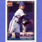 1991 Topps Baseball #442 Charlie O'Brien - New York Mets