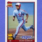 1991 Topps Baseball #432 Delino DeShields - Montreal Expos