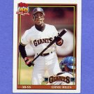 1991 Topps Baseball #408 Earnest Riles - San Francisco Giants ExMt