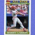1991 Topps Baseball #400 Barry Larkin AS - Cincinnati Reds