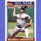 1991 Topps Baseball #396 Bobby Thigpen AS - Chicago White Sox