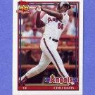 1991 Topps Baseball #355 Chili Davis - California Angels
