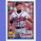 1991 Topps Baseball #329 David Justice - Atlanta Braves