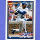 1991 Topps Baseball #226 Alfredo Griffin - Los Angeles Dodgers NM-M