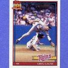 1991 Topps Baseball #216 Greg Gagne - Minnesota Twins